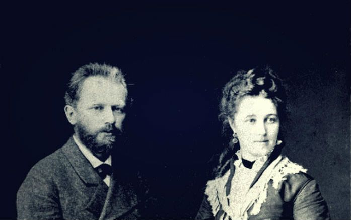 Tchaikovsky and his wife.