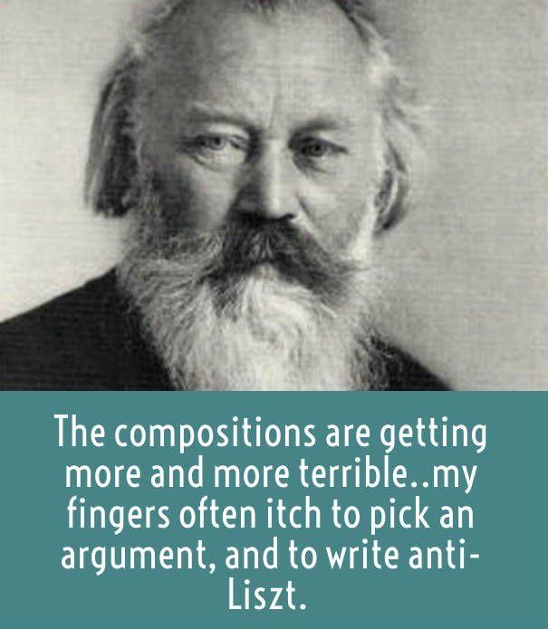 Brahms on Liszt