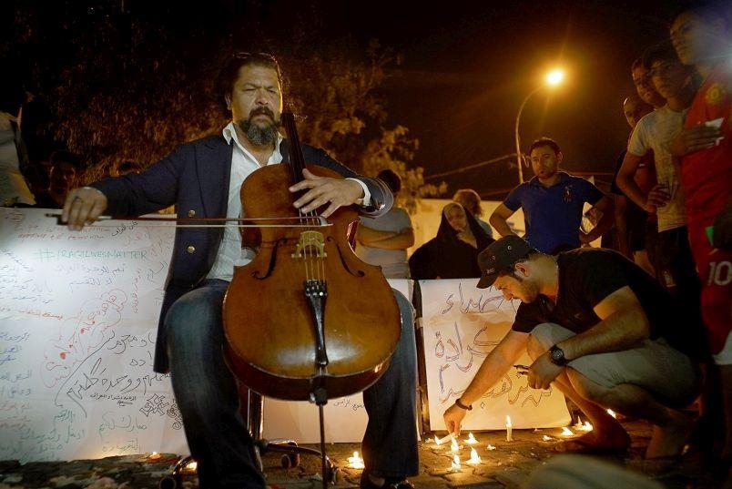 Iraqi Cellist Karim Wasfi