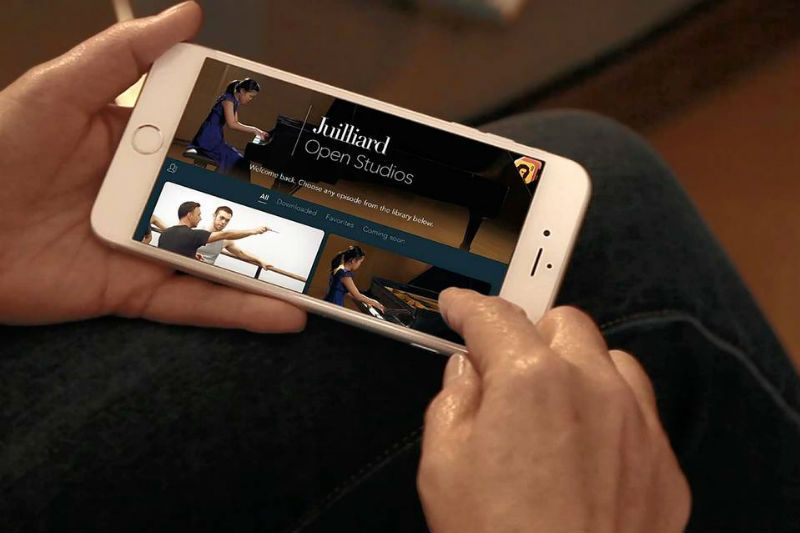 The Juilliard School is trying to reach out to a global audience with its new app, The Juilliard Open Studios. Photo Courtesy: The Juilliard School