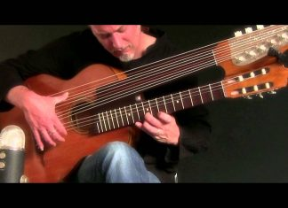 The Moonlight Sonata played on the harp guitar sounds more wistful than the original