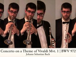 Trumpet Player Creates Brilliant New Arrangement Of Bach Concerto on a Theme of Vivaldi