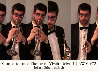 Trumpet Player Creates Brilliant New Arrangement Of Bach Concerto on a Theme of Vivaldi
