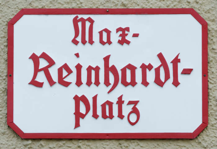 Max Reinhardt Square Street Sign