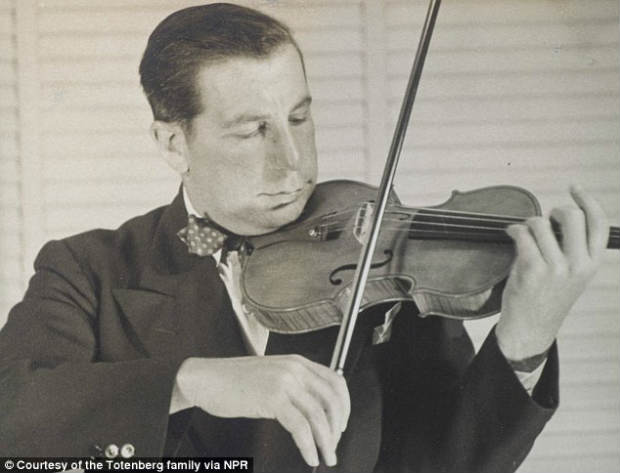 Roman Totenberg performs with the Stradivarius in the 1950s.