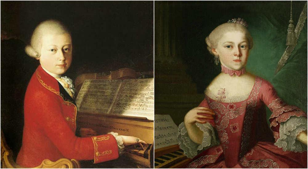 Wolfgang and Maria Anna Mozart