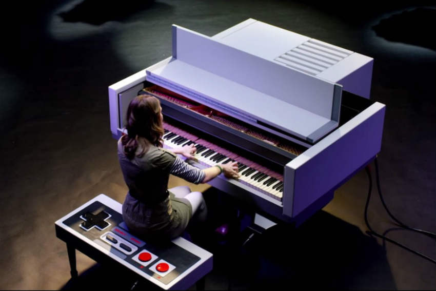 nintendo shaped piano