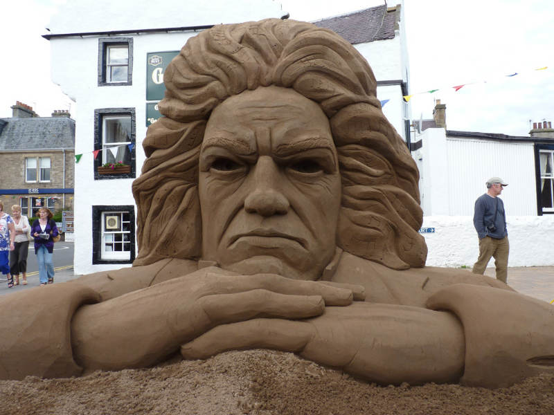 Beethoven sand sculpture east neuk festival