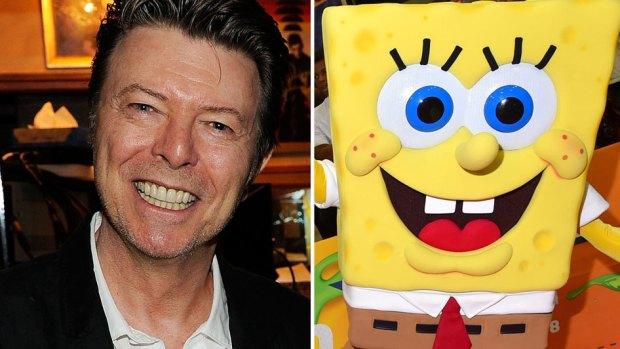 David Bowie/Spongebob Squarepants )Larry Busacca/Alberto E. Rodriguez/Getty Images