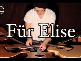 Beethoven's Für Elise Played on Five Guitars