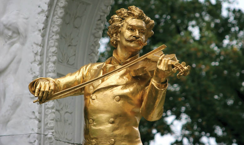 Statue Of Johann Strauss II in Vienna Austria