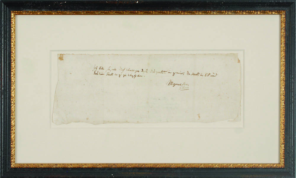 Mozart letter fetches $217,000 at auction
