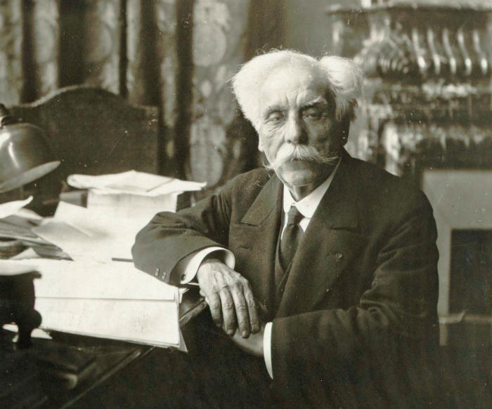 Gabriel Faure in his office