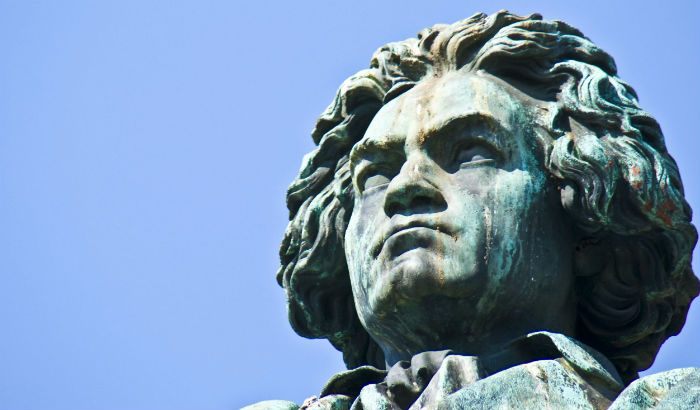 the statue of Ludwig van Beethoven in Bonn