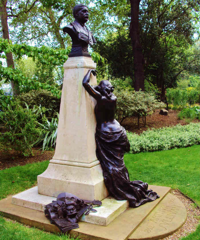 Arthur Sullivan Memorial, Victoria Embankment Gardens - London