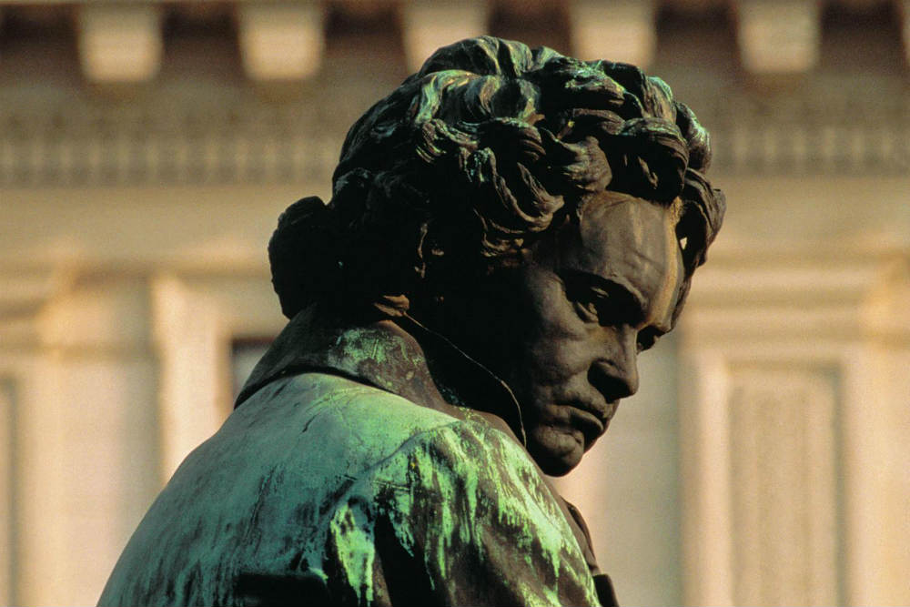 The statue of Ludwig van Beethoven in Vienna