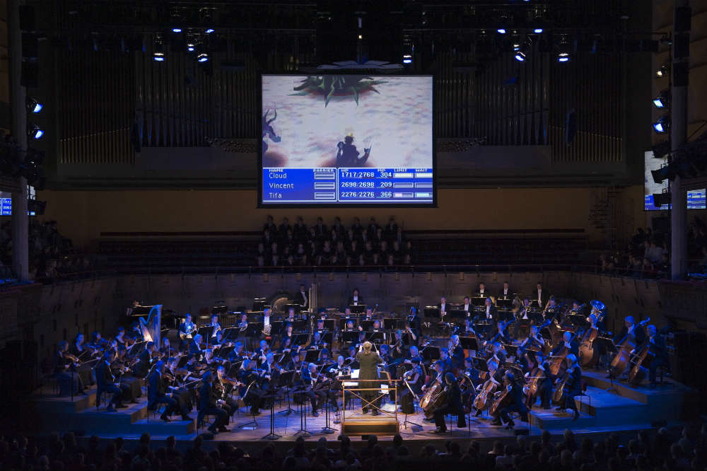 Scenes from Final Fantasy games accompany the music of the Distant Worlds tour in Stockholm.
