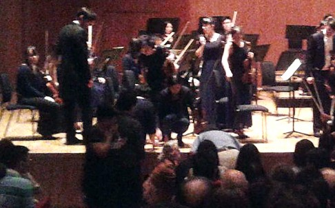 The Australian violinist collapsed on stage at a recent concert given by the Hong Kong Sinfonietta.
