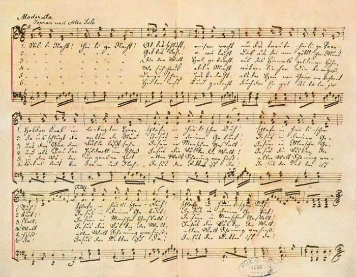 silent night manuscript
