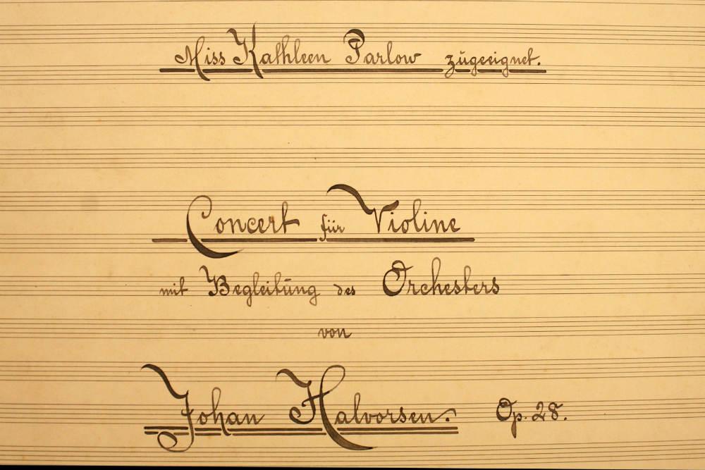 Johan Halvorsen's violin concerto