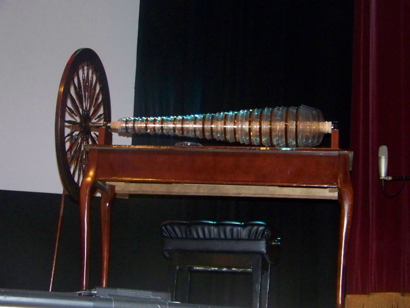 A modern glass armonica built using Benjamin Franklin's design