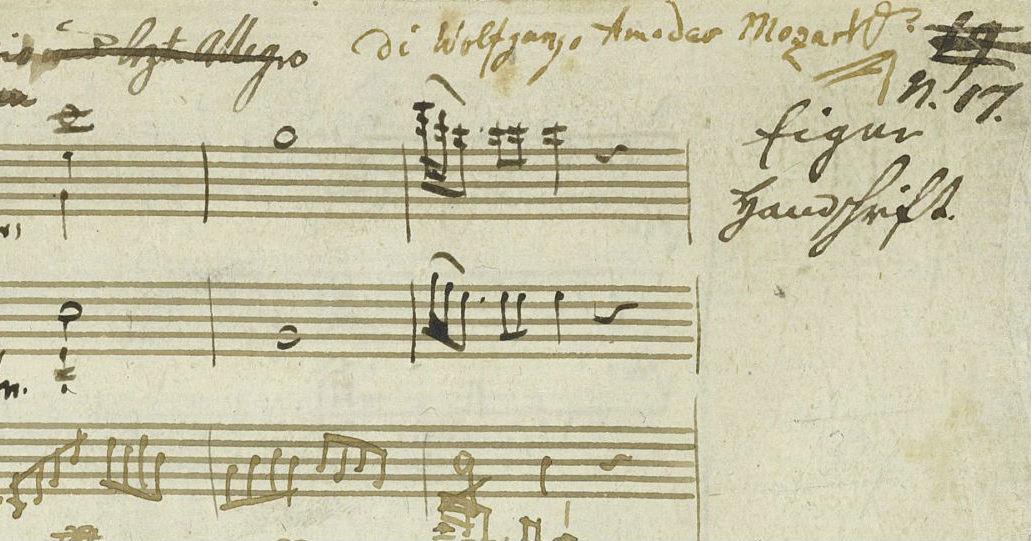 Mozart Signed Manuscript