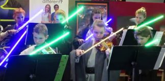 Young Padawans perform Star Wars music