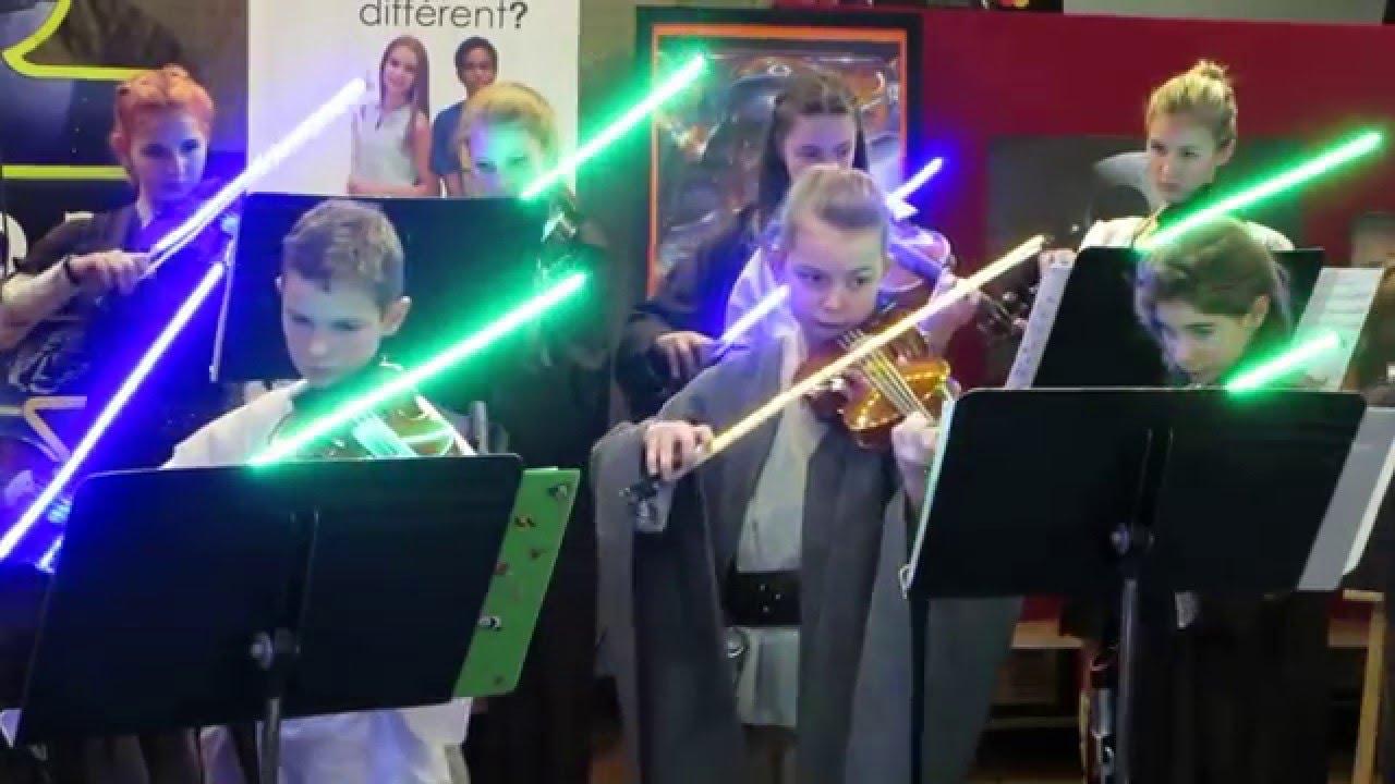 Lightsaber violin bow