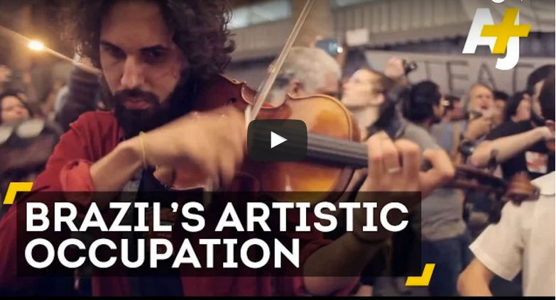 musicians occupy buildings in brazil
