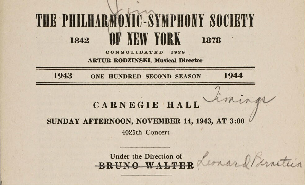 philharmonic society new york bernstein