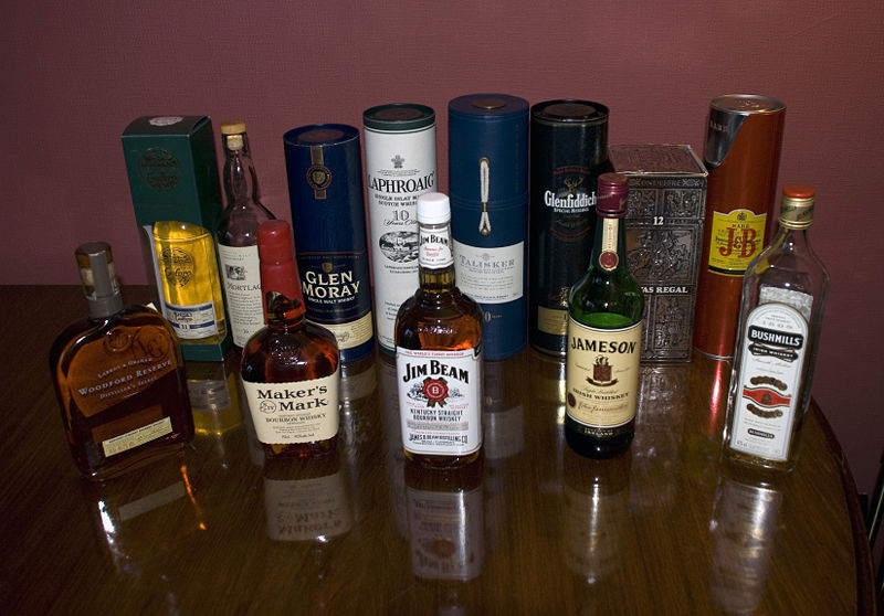 various whiskeys