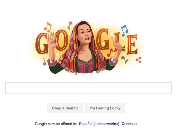 Yma Sumac Google Doodle