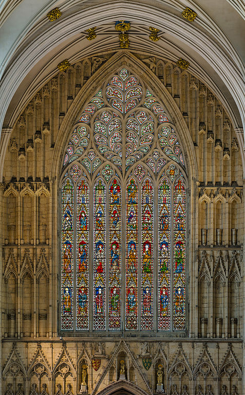 The west window at York Minster. Image credit: Diliff/Wikimedia Commons