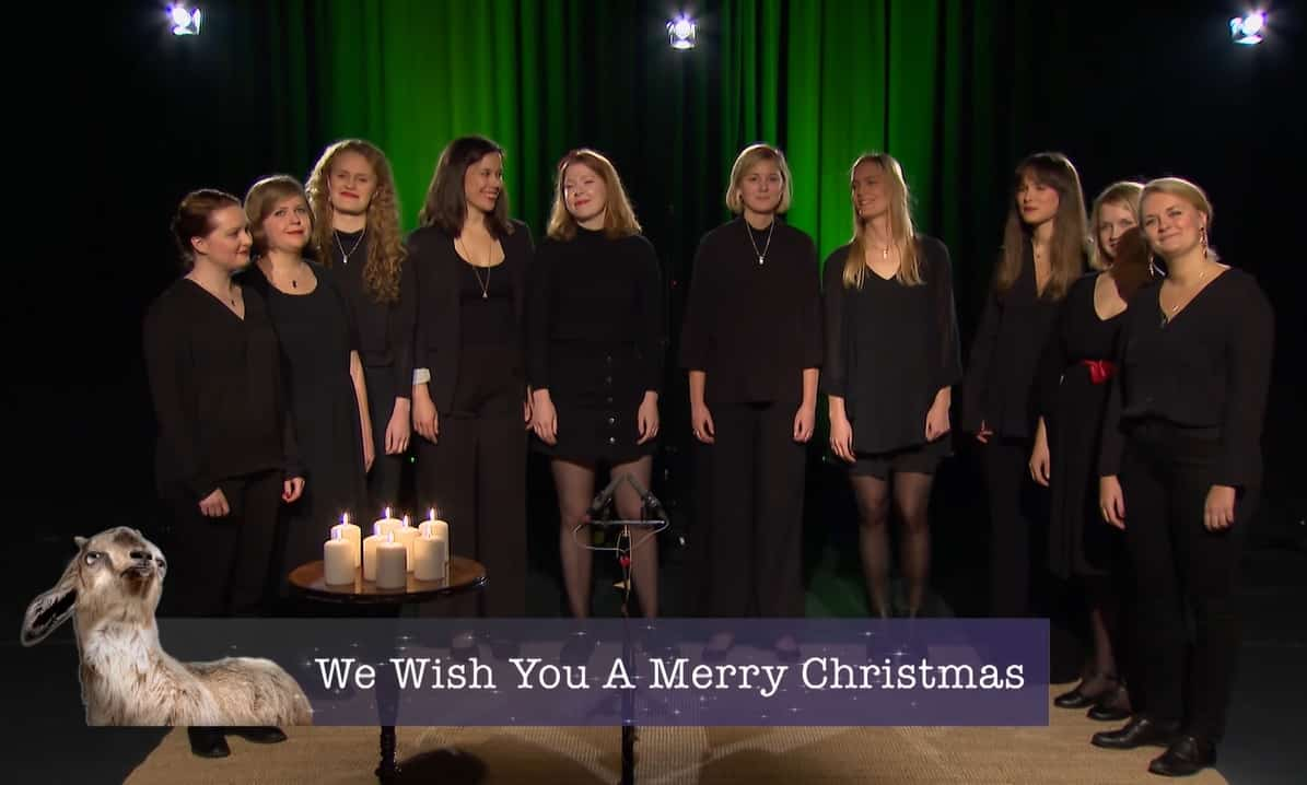 Swedish choir performs Christmas classics in style of goats