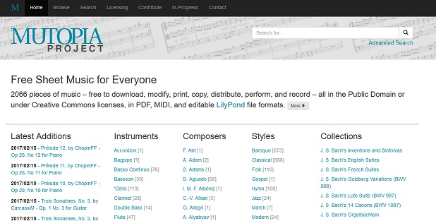 Top 6 Music Notes Websites to Download Free Sheet Music - CMUSE
