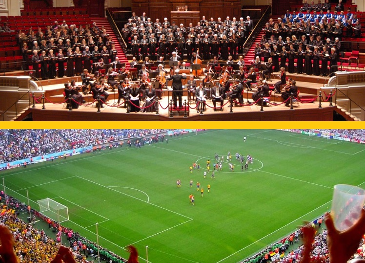 Classical Music Concerts vs Football Matches