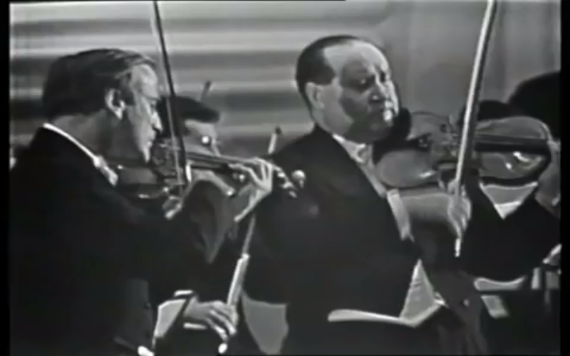 Yehudi Menuhin with David Oistrakh
