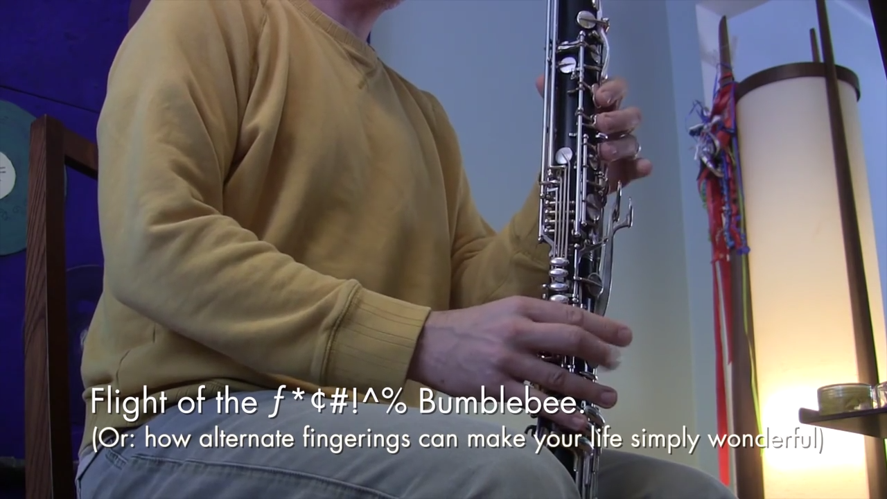 Flight of the Bumblebee on a bass clarinet