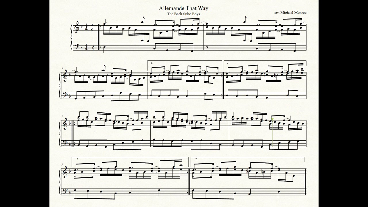 Backstreet Boys' 'I Want It That Way' In Bach Allemande Mode