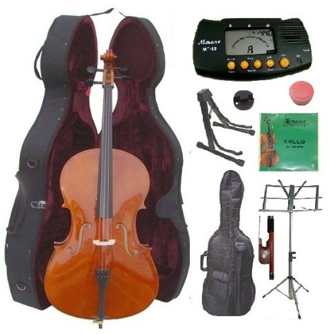 Merano 4/4 Size Cello with Hard Case