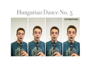 Four-way Clarinet Song cover of Brahms's Hungarian Dance