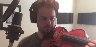 Rob Landes Plays a Violin Using a Fidget Spinner