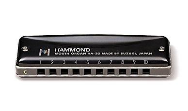 10b6d14ab09 Suzuki HA-20-C Promaster Hammond Professional 10-Hole Diatonic Harmonica