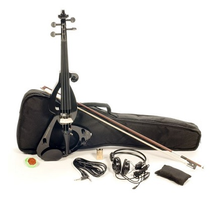 ViolinSmart Full Size 4-4 Electric Violin Set Black