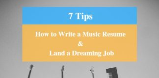 How To Write Music Resume