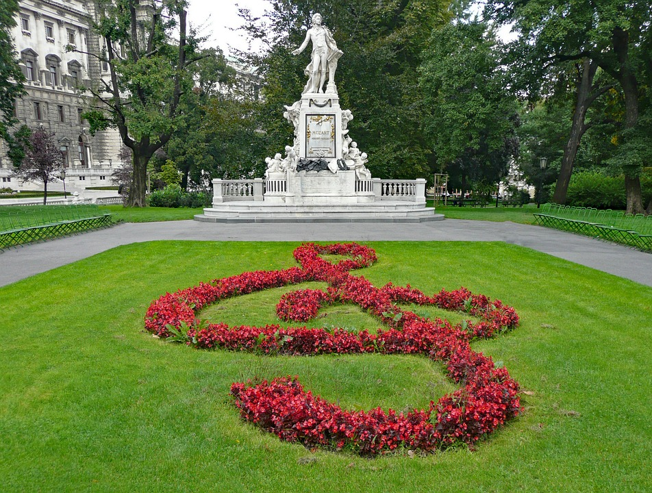 Monument Austria Mozart Monument Mozart Vienna
