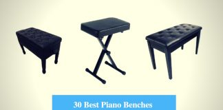 Best Piano Bench, Adjustable Piano Bench & Best Keyboard Bench