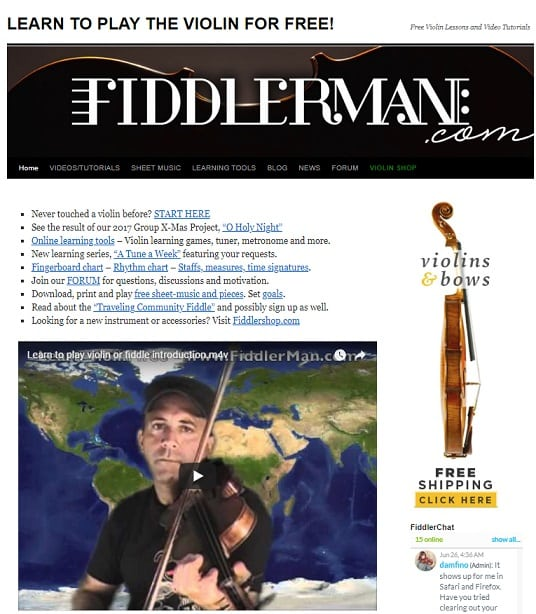 Fiddlerman Learn Violin Online