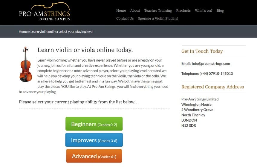 proamstrings Learn Violin Online