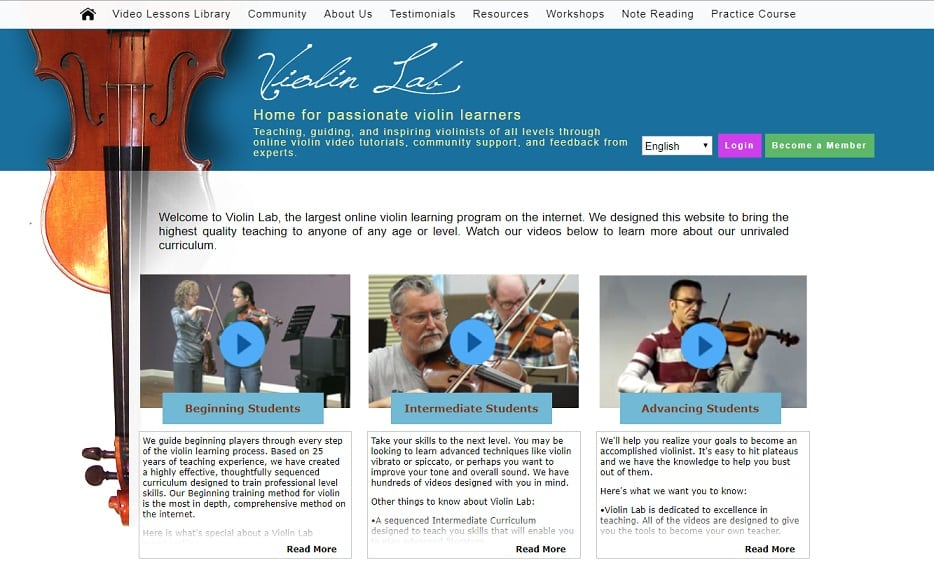 ViolinLab Learn Violin Online